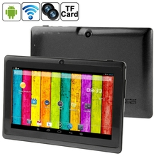 China Tablet 7,0 zoll Tablet PC, 512MB + 4GB, Android 4.2.2, 360 <span class=keywords><strong>grad</strong></span> <span class=keywords><strong>Menü</strong></span> Rotation, Allwinner A33 Quad-core, Blau-zahn, WiFi