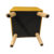 Bailey square storage ottoman foot stool with wooden legs