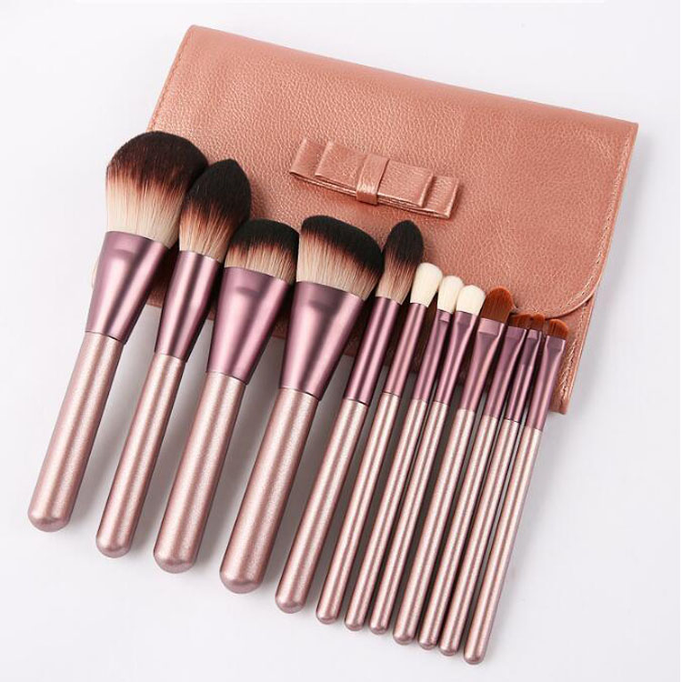 12 Pcs Druif Dichte Haar Private Label Professionele Make-Up Kwast Kit Cosmetische Brush Kits