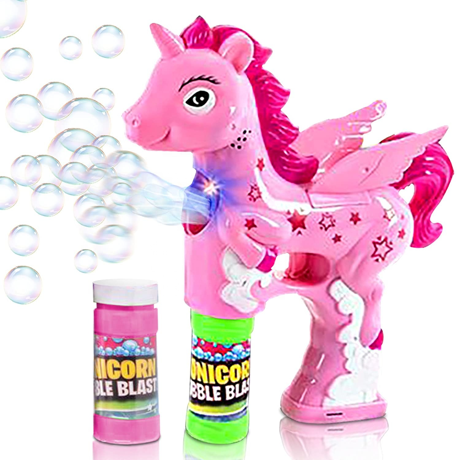 Bubble <strong>Gun</strong>, Bubble Blaster <strong>Gun</strong> Bubble Shooter Soap Bubble Toy LED Bubble Ty <strong>Gun</strong>, Unicorn Bubble <strong>Gun</strong> with Solution Costume toy