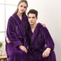 HSZ 1506 High Quality Women Man Bathrobe Luxury 5 Star Hotel Bath Robe For Man Plus Size Couples Romantic Sleepwear