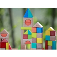 Toy Small Timber Tower Stacking Wooden Blocks Building
