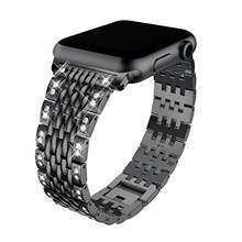 Женский бриллиантовый браслет для Apple Watch 38 мм 40 мм 42 мм 44 мм металлический браслет ремешок из нержавеющей стали для iWatch серии 5/4/3/2/1(Китай)