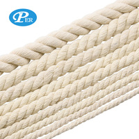 White Cotton 3 Strands Twisted Rope For Packing/Home Textile/handbag decoration