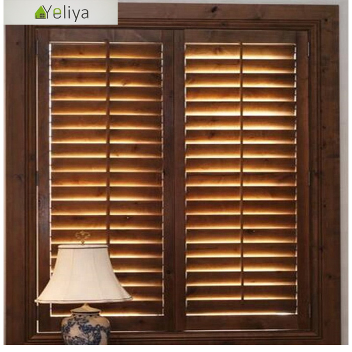 Wood louvered bifold doors plantation shutter
