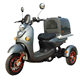 Pizza Food Delivery Three Wheel Cargo Electric Scooter With Storage Box Container
