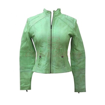 lightweight Green Women leather jackets