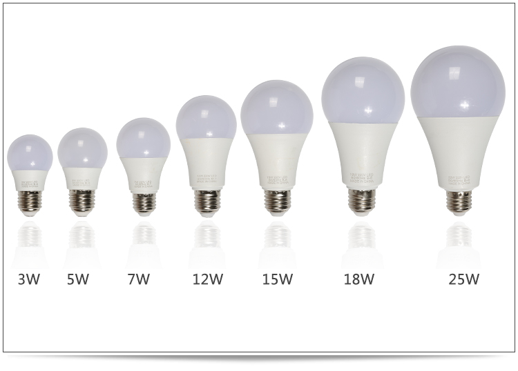 Factory Price 2 year Warranty E27 Led Bulb 3w 5w 7w 9w 12w 15w 18w Led Bulb Light A60 A70 Plastic Aluminum Lamp Skd Bulb Housing
