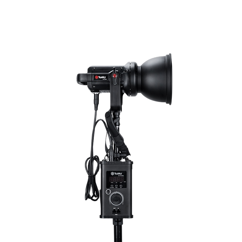 Tolifo Portable 120W COB Bowens LED Photo Video Fill Light With V lock Battery Plate, DMX, Reflector and Remote