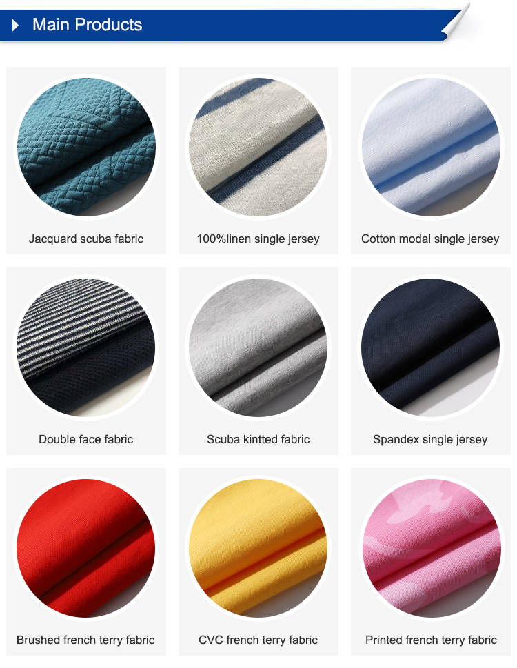 Shirt fabric yarn dyed linen fabric for clothing single jersey knitted fabric