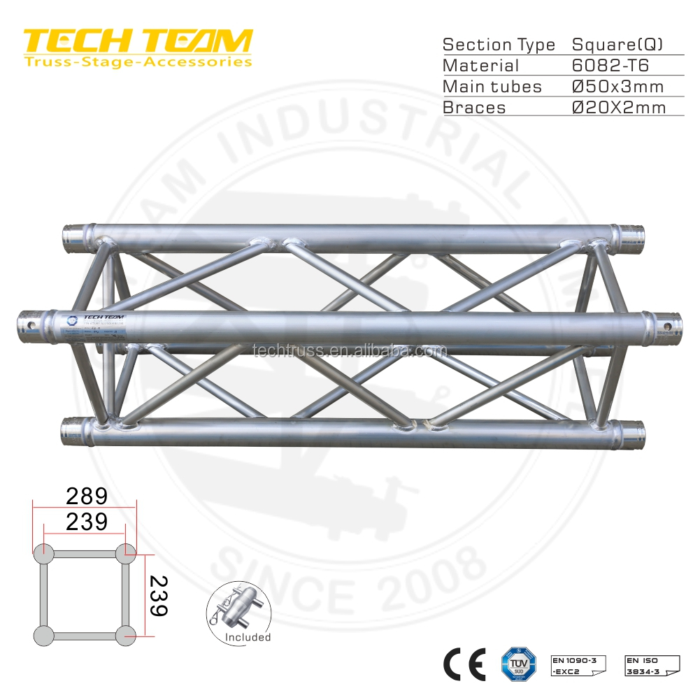 290 MM Lighting Roof Truss Aluminum Spigot truss system