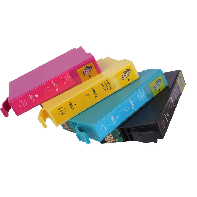 Wholesale High Capacity T1283 dye compatible ink cartridge for genuine Epson Stylus S22 SX125 130 230 235W
