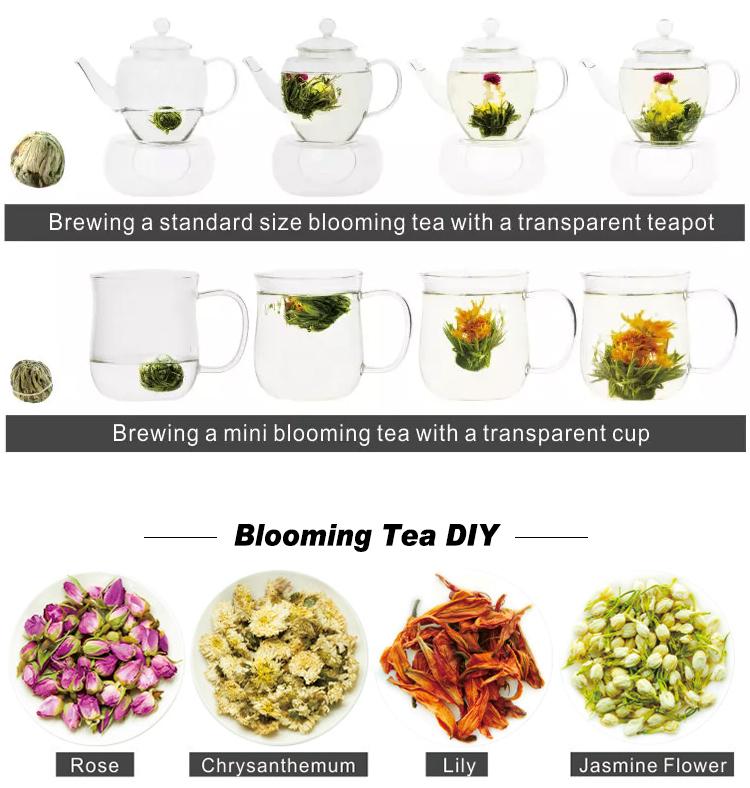 Mushroom Shape Osmanthus Marigold Blooming Tea Balls - 4uTea   4uTea.com