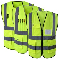 Reflective Vest Jacket Strip Yellow Mesh Fabric For Safety Vest Reflective Clothing