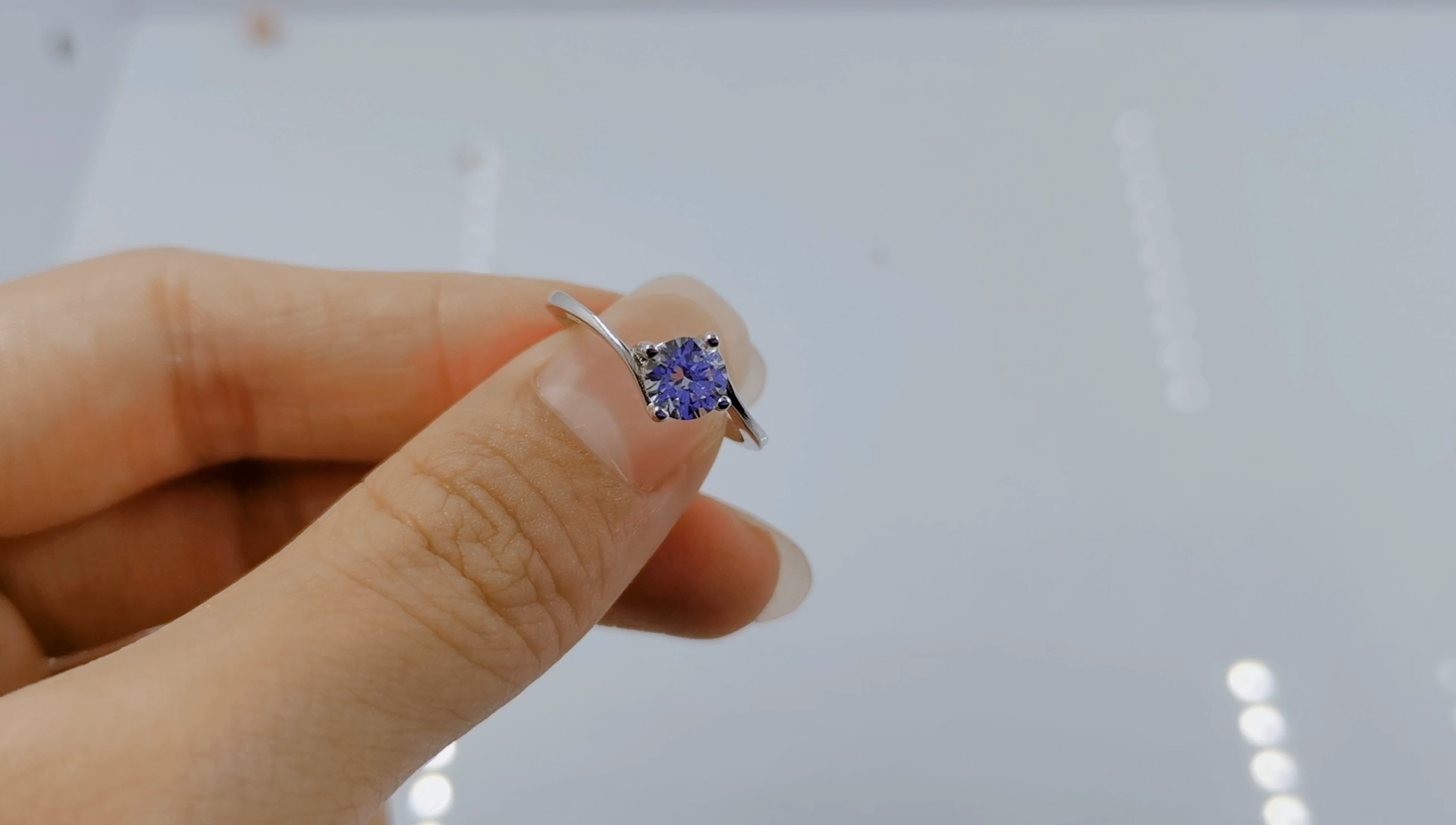 الحد الأدنى مخصص مجوهرات الزفاف مويسانيتي الماس 925 الفضة الاسترليني خواتم الخطبة