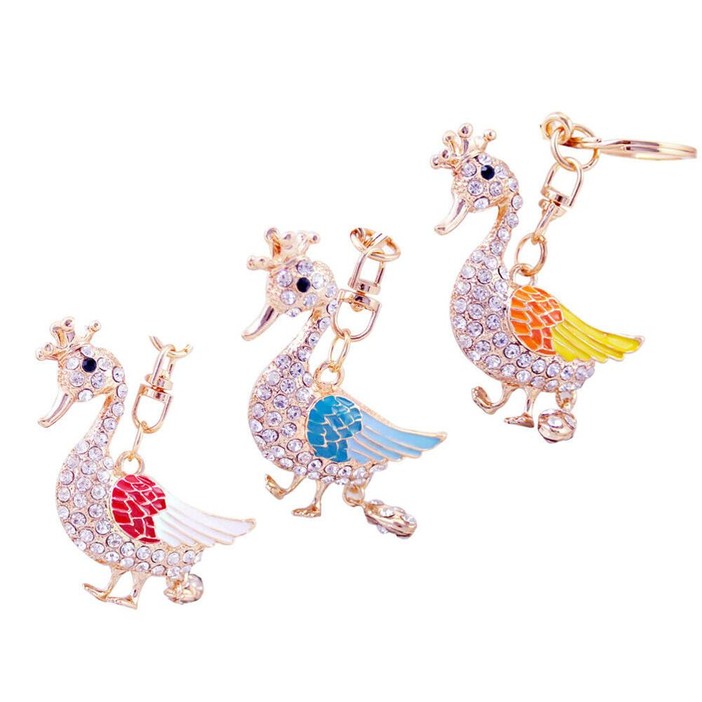 Duck Rhinestone Keychain Fashion Charm <strong>Cute</strong> Purse Bag Pendant Creative <strong>Gift</strong> SA3735