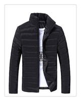 Direct factory waterproof thin hooded cotton goose down jacket winter coat for men