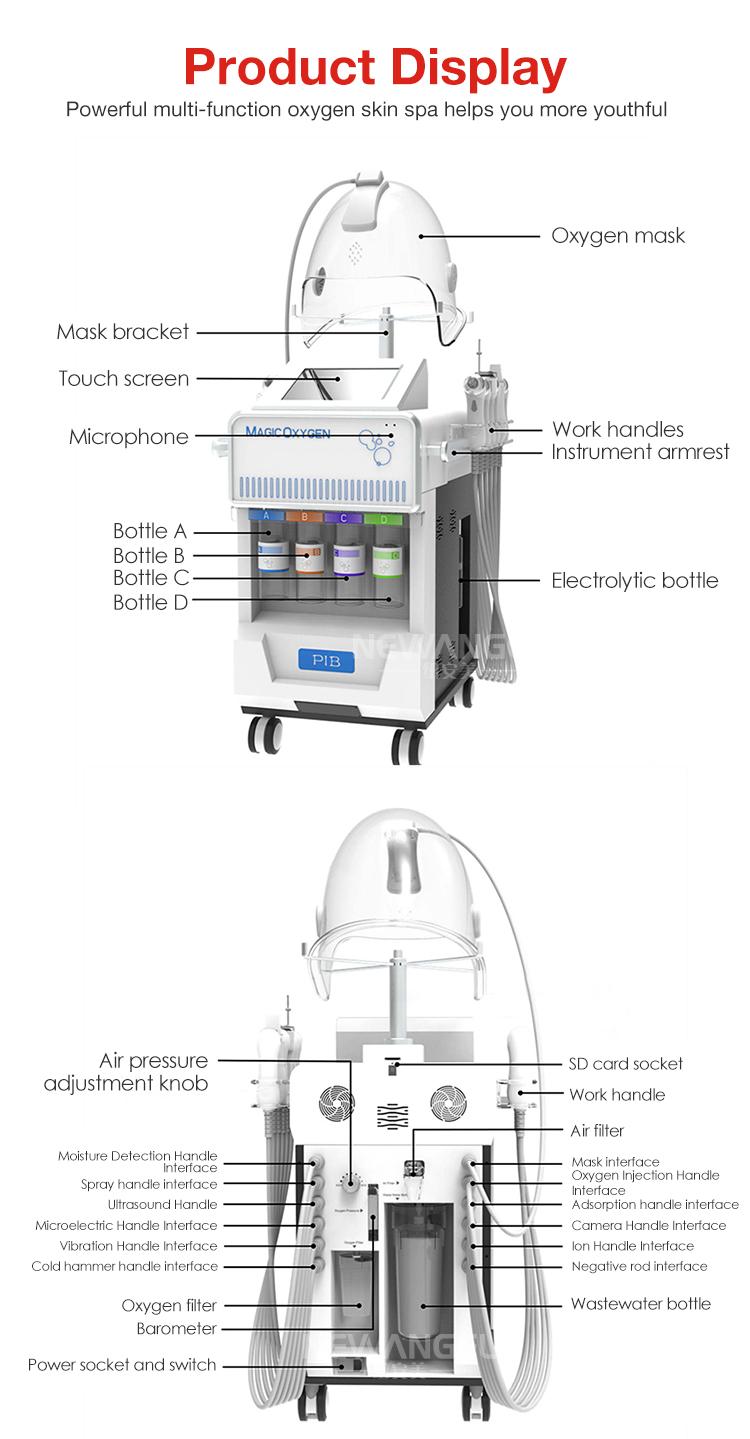 RF Wajah Mengangkat Kulit Membersihkan Oksigen Peralatan Kecantikan