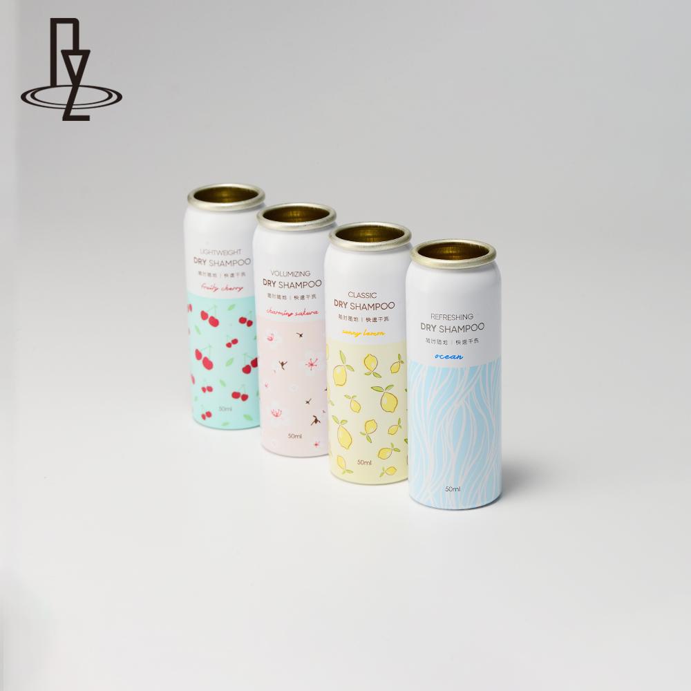 Airless cosmetic aluminum aerosol bottle daily use