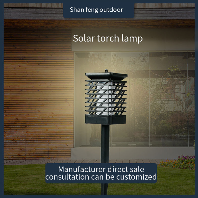 LED Solar Lamp Tiki Torch Light Garden Waterproof Outdoor Courtyard Lawn Lamps Dancing Flame Flickering 96LEDs Decorative Lights
