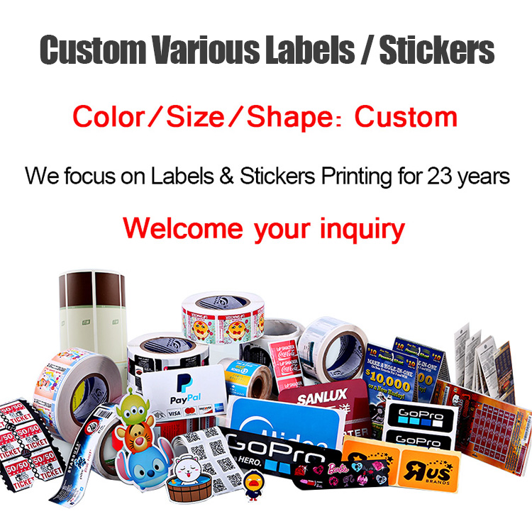 Custom Printed Scratch-off Lucky Lottery Ticket Paper Lotto Lottery Scratch Cards Raffle Tickets