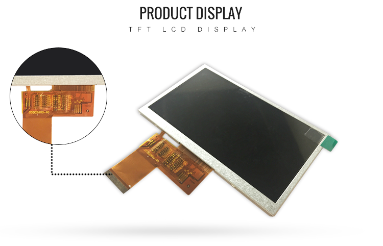 5.0 inch TFT Display Module 40 Pin LCD Screen TFT Display With 480x272 Dots