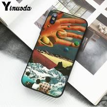 Yinuoda отличный Trippy Art эстетический Космос астронавт Moon Girl чехол для телефона iphone 11 Pro Max 8 7 6S 6Plus X XS MAX 5 5S SE XR(Китай)