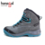 Waterproof nubuck leather brand name grey men outdoor travel boots