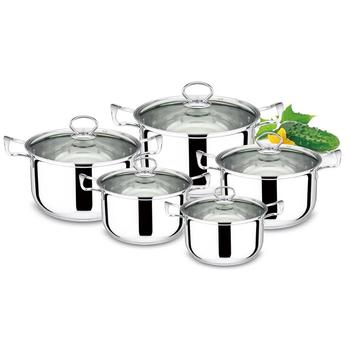 10PCS stainless steel casserole set 16-18-20-22-24cm