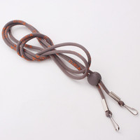 Alibaba gold supplier low price much material and style for choice weave double clip rope lanyard