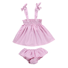 2019 Wholesale Fashion Baby Clothes pink Soft Cotton 2 pieces swimwear Baby Suit baby girl boutique clothing