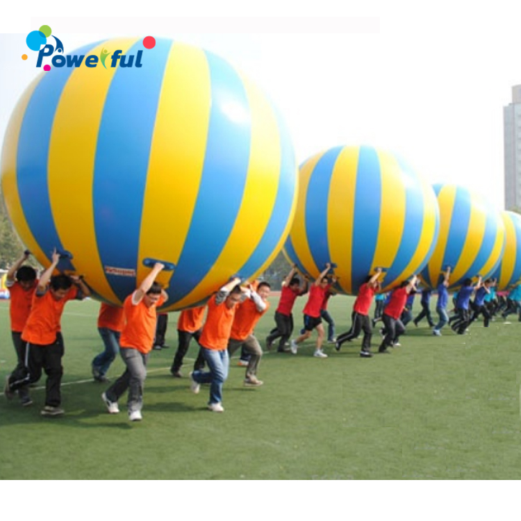 Air-tight Team Play PVC Inflatable Lifting Big Ball Game Race Game