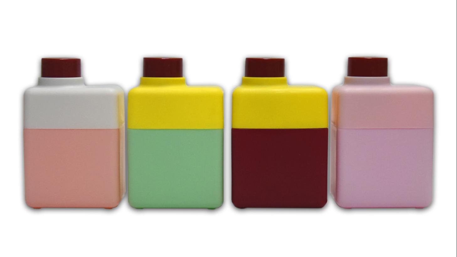 الصين شركات مستطيل طباعة الشاشة المعالجة السطحية 280 مللي 200 مللي غسل الوجه غسول HDPE زجاجة شامبو