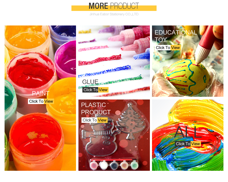 Promotional Colorful Diy Painting Toy Finger Paint For Kids