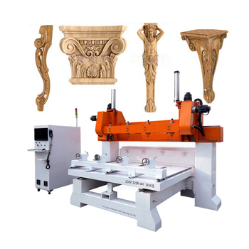2020 new hot sale 4 axis 5 axis multi head cnc router / 5d wood cutter cnc machine