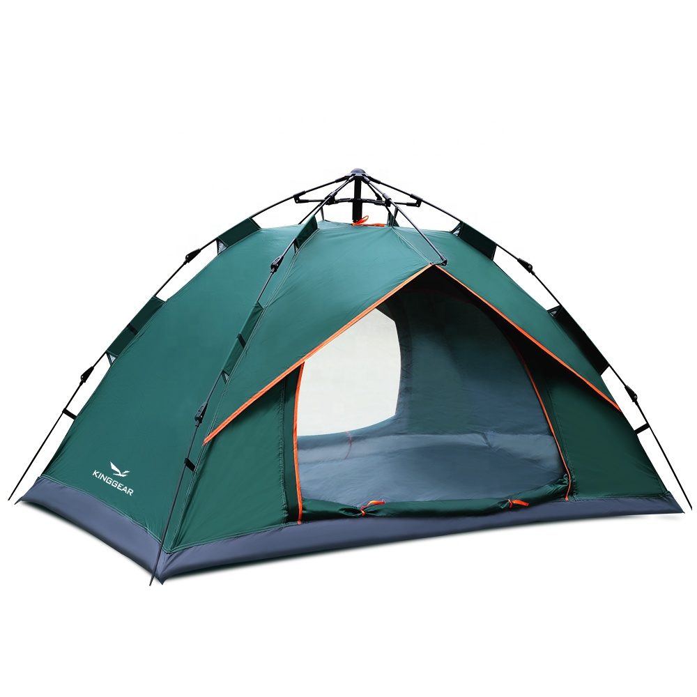 1-2 Person Cheap 170T polyester fabric with silver coating Automatic Popup Tent