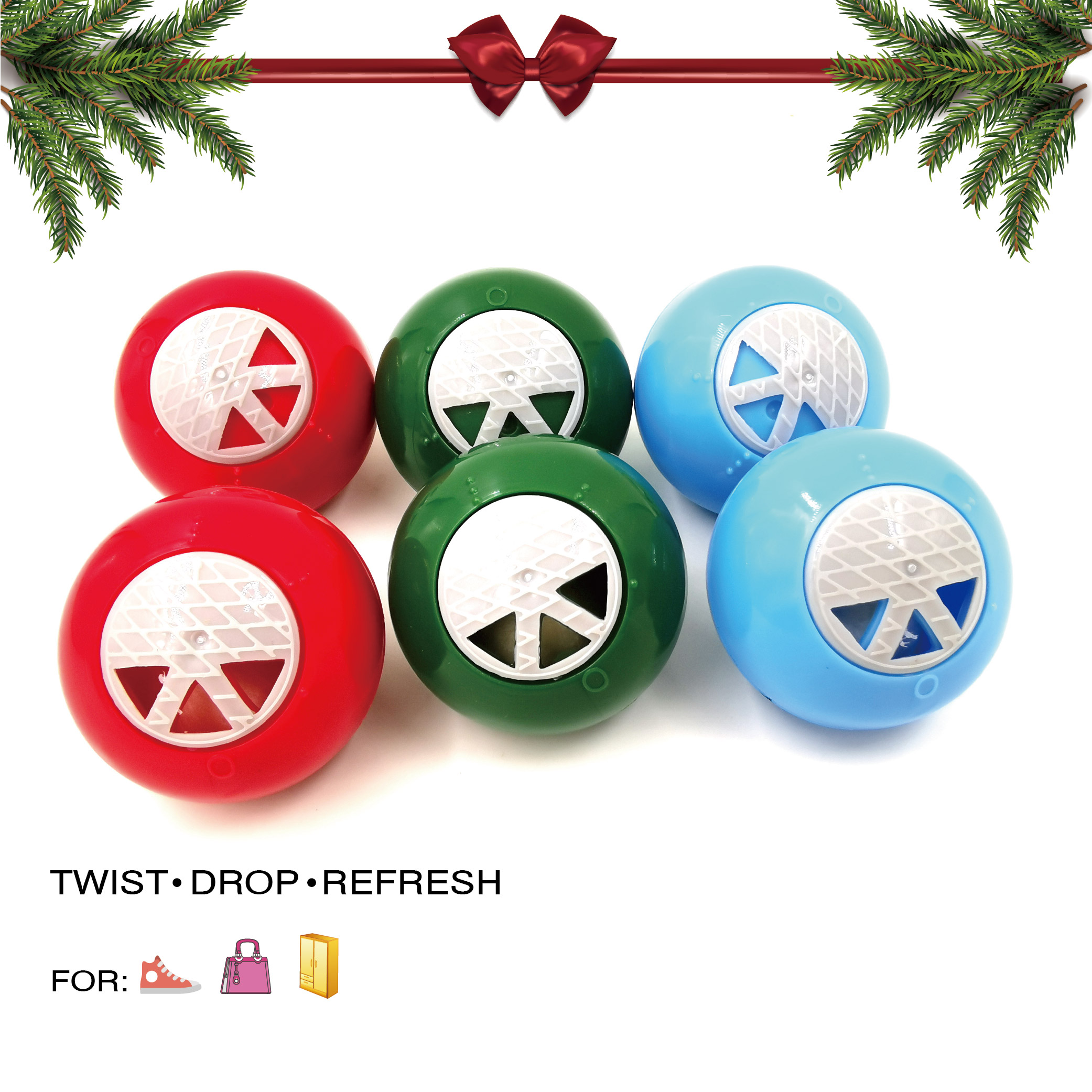 Long Lasting Fresh Scent Refreshener Rounds christmas promotion product