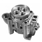 Precision custom aluminium casting parts and steel iron metal part CNC machining service