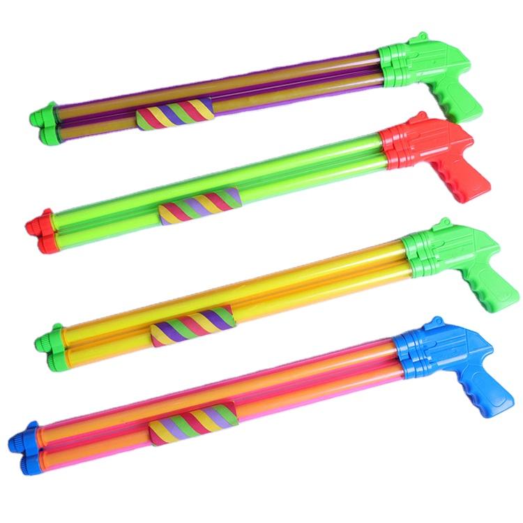 60 centímetros Infantil Duplo-Tubo Da Bomba De Água de Verão Brinquedos Pistola de Água