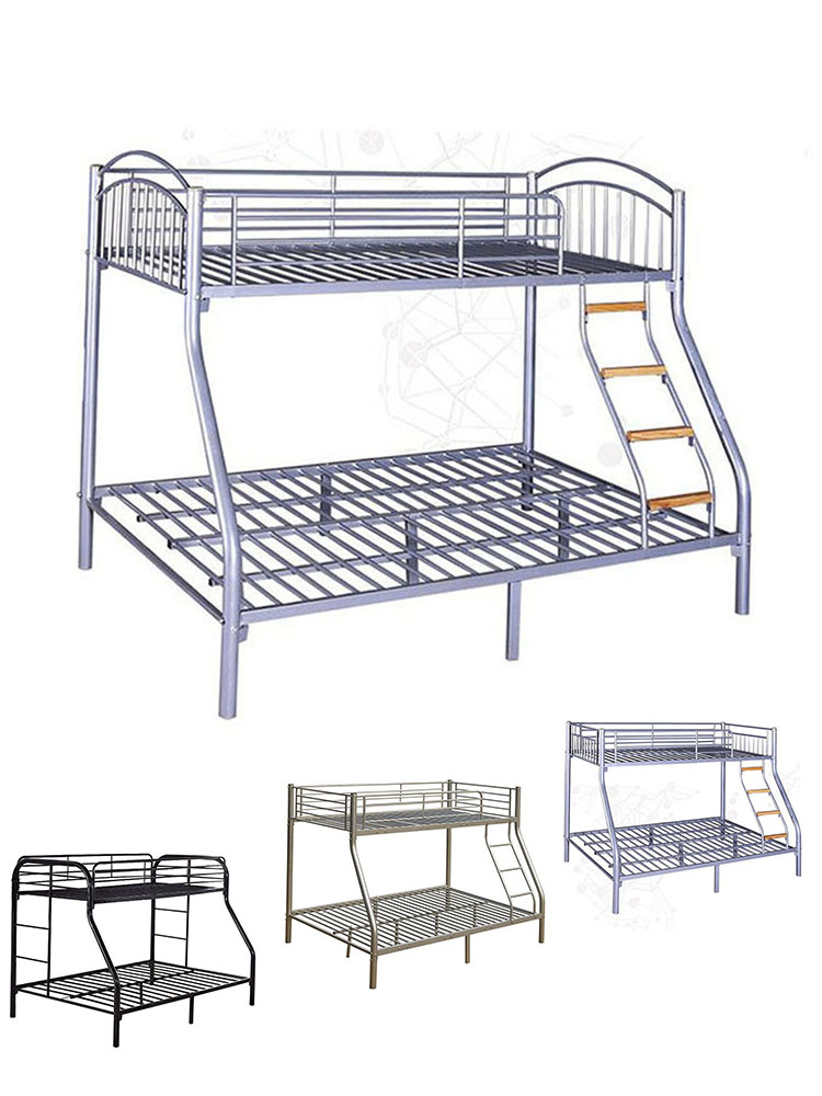 Super Triple Sleeper 3 Bunk Metal Bed Double Over Beds For Adults Children Furniture Sets Bedroom Kids