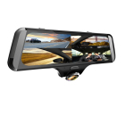 10 inch360 degreeFull screen touch rearview mirror car dvr camera with dual dash cam