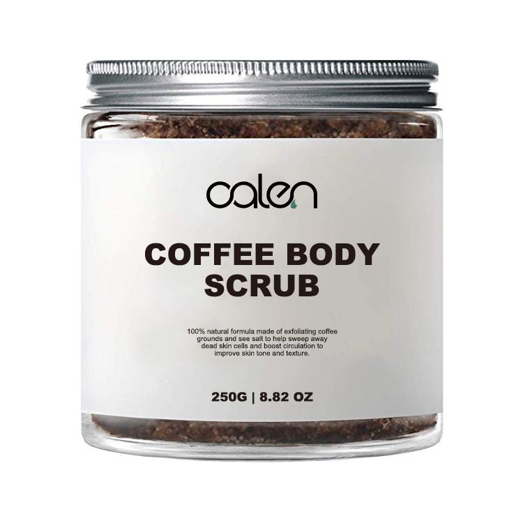 Private label Naturale Organico Caffè Scrub Esfoliante Anti Cellulite Body Scrub
