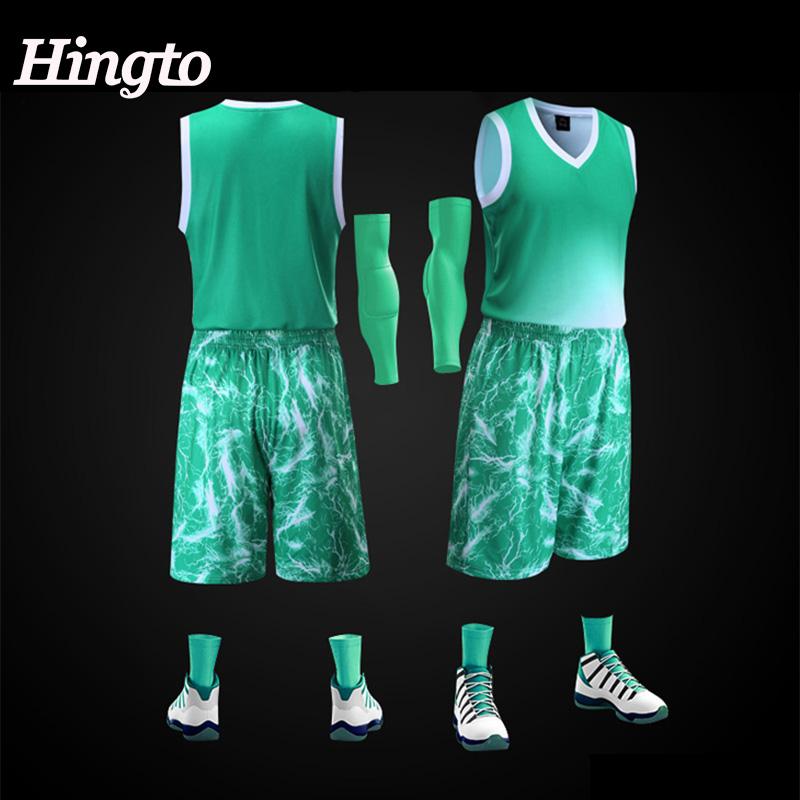 2020 Latest design men sublimation basketball jersey sets 100% polyester