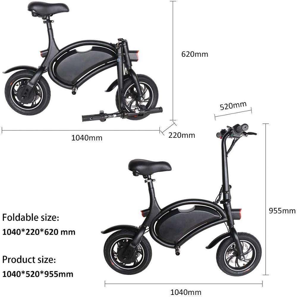 SELL IN EU ONLY europe free duty Foldable 12inch Super Lightweight City 350W 36V 6AH Folding E-bike Unisex Electric Bike Bicycle