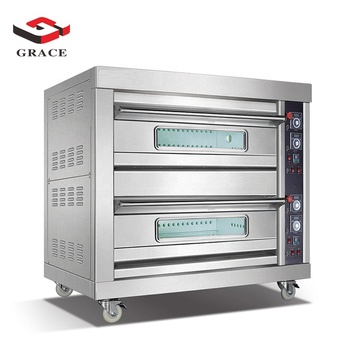 Grace Commercial Free Standing Two Deck Four Tray Baking Pizza Gas Oven