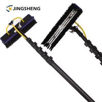 Supply 45ft extension water fed tube carbon fiber telescopic pole for window cleaning
