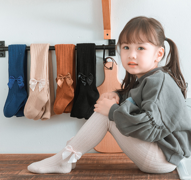 6-12 Months, Black Tights Cable Knit Stockings Pantyhose Infants Toddlers Solid Warm Panty Hose Pants Trousers for 0.5-8 Years Old Baby Girls Bow-knot Cotton Leggings Pants