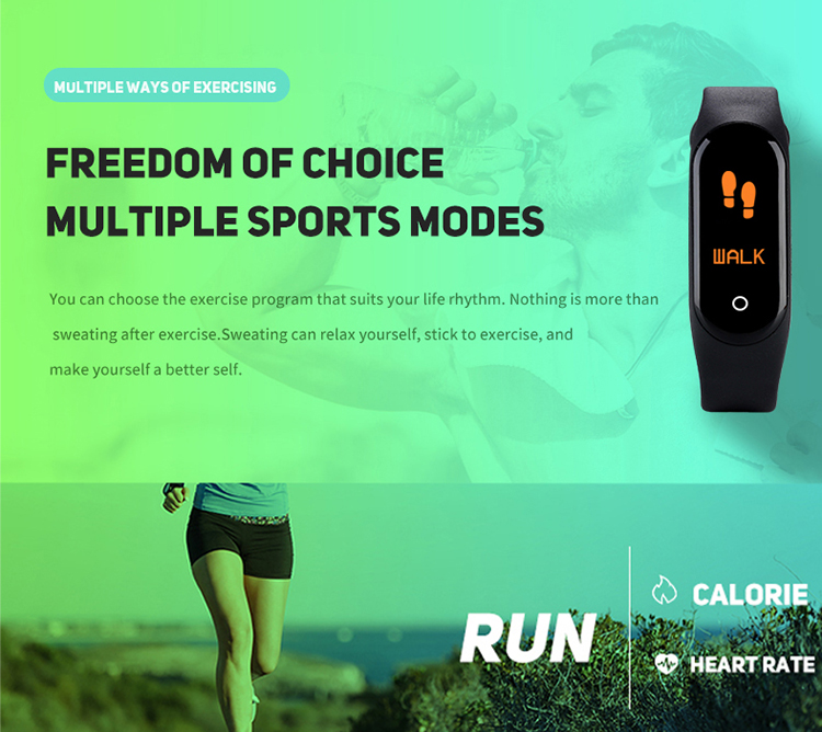 Smart Watch Mi Band M4 Smart Banda Pulsera Inteligente Heart Rate Monitor Fitness tracker M4 Smart Bracelet