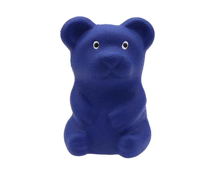 Squeaky rubber dog  toy    Cute Bear Rubber Toy Manufacturer Customized 70% Rubber Content with Safety Inspection Food Grade