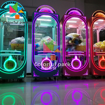 Colorful Park toy claw machine/ doll claw machine/toy crane claw machine for sale malaysia